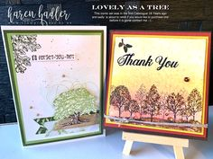 This image has an empty alt attribute; its file name is Lovely-as-a-tree. Bees, Cardmaking, Stamping, Paper Crafts, Frame, Cards, Handmade, Empty, Passion