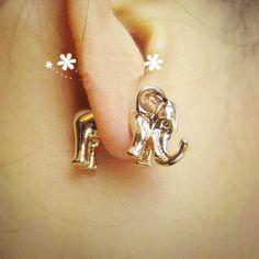 BOGO-Fashion 3D Elephant Ear Stud (Single) | LilyFair Jewelry, $11.99!
