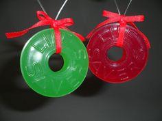 Life Savers Candy Christmas Ornaments Vintage 1988 Nabisco Cherry Lime Set of 2 Christmas Tress, Christmas Candy, Christmas Decorations, Christmas Ornaments, Holiday Decor, Ebay Shopping, Life Savers, Cherry, Lime