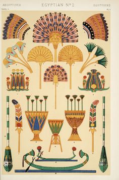 Egyptian ornament  From The grammar of ornament (1910) by Owen Jones