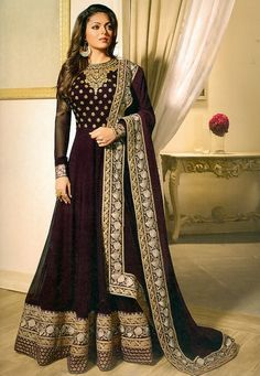 Hot Wedding Wear Long Designer Anarkali Shalwar Kameez Suit Top :- Faux GeorgetteBottom :- Santoon Inner :- SantoonDupatta :- nazminWrok :- Faux Georgette With EmbroidryLength :- Max up to :- Max up to :- Semi Stitched Abaya Fashion, Ethnic Fashion, Indian Fashion, Fashion Dresses, Bollywood Dress, Pakistani Dresses, Pakistani Clothing, Moda India, Designer Anarkali