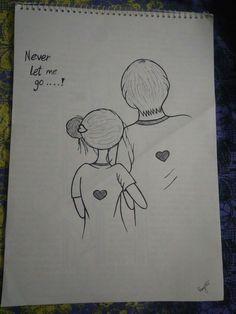 Cute Drawings Of Love, Sad Drawings, Girl Drawing Sketches, Art Drawings Sketches Simple, Girly Drawings, Pencil Art Drawings, Art Sketchbook, Love Art, Broken Heart Drawings