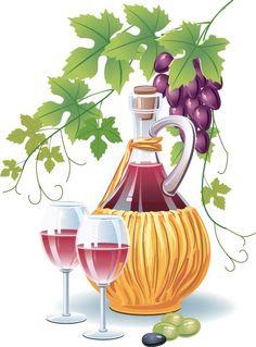Retro Wine and food design vector 01