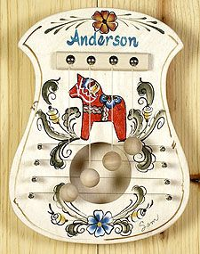 Dala Horse Design - Door Harp...grew up with one of these...