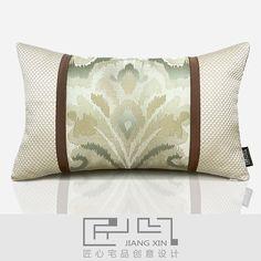 匠心宅品 法式新古典样板房/软装靠包抱枕大马士提花腰枕{不含芯