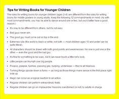 Writing Children's Books - A Cheat Sheet - Writers Write