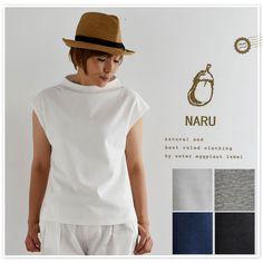 【NARU ナル】テラヴェ コットン ノースリーブ ボトルネック カットソー (622320)