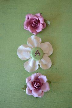 Silk flower hair clips made by me flower hair clips pinterest paper flower hair clips mightylinksfo