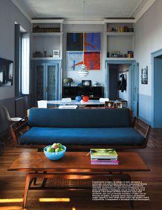Scandinavian furniture decorating an apartment in Milan.