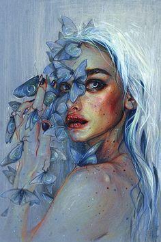 Best Inspiration Art Drawing – My Life Spot Arte Digital Fantasy, Fantasy Art, Digital Art, Art Watercolor, Arte Sketchbook, Surrealism Painting, Art Drawings Sketches, Surreal Art, Portrait Art