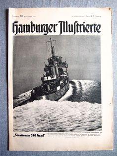 "Газета ""HAMBURGER ILLUSTRIERTE №3"" 1945 г. 3 Рейх."