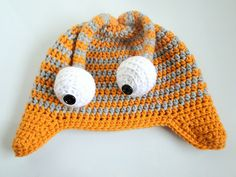 plus 3 crochet: googley eyed monster hat