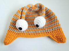 plus 3 crochet: googley eyed monster hat