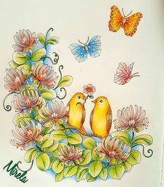 "93 Likes, 4 Comments - Mirela Gašo (@mirelagaso) on Instagram: ""#skymningstimman #twilightgarden #mariatrolle #arte_e_colorir #wonderfulcoloring…"""