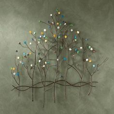 572333efd1 Metal Tree Wall Art · 32.5 in.x 32 in. Metal Gemstone Forest Wall  Sculpture-WS7029 at The