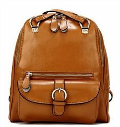 earth yellow candy backpack soft genuine leather by starbag, $56.93