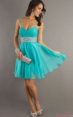 Short Prom Dresses with Straps and Beads - Cheap  Latest Prom ...