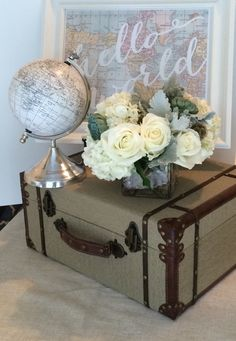 Adventure Is Out There!: Amberu0027s Vintage Travel And Airplane Baby Shower |  Up | Pinterest | Airplane Baby Shower, Baggage Claim And Baby Sprinkle