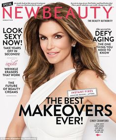 Still a cover girl: The 50-year-old icon graced the front of New Beauty...