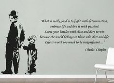 #Charlie #Chaplin Life #Quote #Sticker