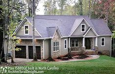Architectural Designs Mountain Ranch House Plan 15885GE built in North Carolina. 3 beds, 2.5 baths, 2,000+ square feet (plus a bonus room over the garage). Ready when you are. Where do YOU want to build?