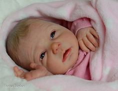 Fiona Lester ~ SO REALISTIC Reborn Baby GIRL Doll SANSA PING LAU Christmas Gift