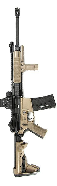 "ADDAX Piston 16"" AR-15 with Magpul M93B Stock."