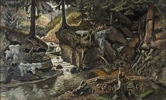 """Painting by Charles E. Burchfield """"Two Ravines"""", 1934-43 (image from Altoon Sultan's """"Studio and Garden"""" blog)"""