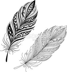 Clipart vectoriel : Vector Peerless Decorative Feather