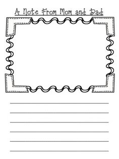 Line Paper Writing Paper Lines And Drawing Frame  Tpt Misclessons .