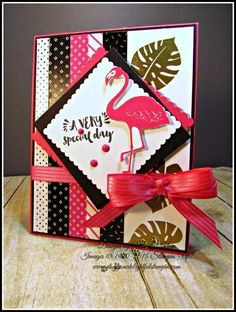 Pop of Paradise stamp set and matching Framelits, Pop of Pink Designer Series Paper,