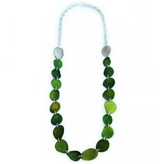 Green bead necklace#prom