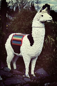 Here's a llama. Made out of legos. You're welcome. =)
