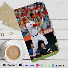 PIEGABAGS.COM - Mike Trout Los Angeles Angels Baseball Leather Wallet iPhone…