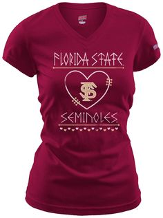 If you love Florida State and you love game day, then this Arrow Heart t-shirt was made for you! #BeallsFlorida #FSU #GoNoles