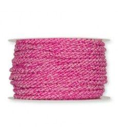 Koord, mat gemeleerd koord 4mm Pink rol 20 m