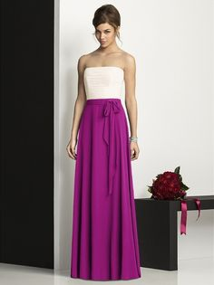 The After Six Bridesmaid Style 6677 is a beautiful choice for your bridesmaids. They will dance the night away in this long lux chiffon dress.  $217.60 #modelbride #bridesmaidsdress #longdress