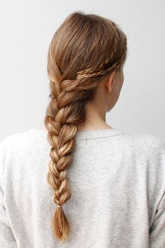 Upgrade a French braid by adding a few smaller braids to the picture.