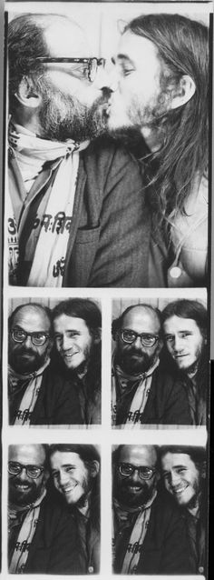 Allen Ginsberg  Friend, photobooth, 1968