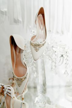 Emmy Shoes, luxury wedding shoes.    Image from The White Gallery (2015), photographed by Emma Pilkington for Love My Dress®Wedding Blog.