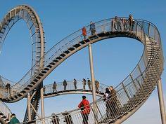 Walkable roller coaster.