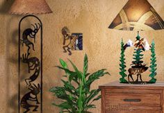 Golden hued Mexican painted entry wall