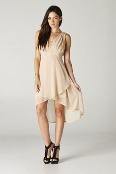 Taylor Dress in Warm Mocha.
