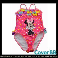 #Minnie Polka Dot 1-Piece #Swimsuit CoverBB #Kidsfashion