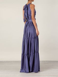 Shop Lanvin flower appliqué evening gown in Luisa World from the world's best independent boutiques at farfetch.com. Over 1000 designers from 300 boutiques in one website.