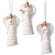 WINTER WHISPER ANGEL ORNAMENTS
