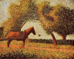 seaurat painting   for georges seurat horse paintings & georges seurat horse painting ...