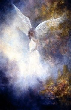 Guardian Angel, Angel Art by Marina Petro www.dailypainters.com