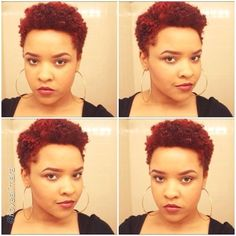 """by @ilovealimara """"Happy Saturday loves! Video on my newest big chop plus new hair color up now on YouTube.com/annisalimara ❤️❤️❤️ #Hair2mesmerize #naturalhair #healthyhair #naturalhairstyles #blackhairstyles #curlyhair #transitioning"""