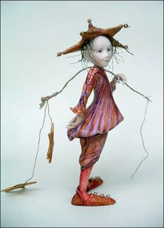 This is Yvonne Flipse   her dolls are like dreams,   each with their own background, symbolism, and desire.